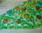 Vintage Scarf - Green Dots