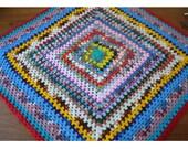 Vintage Afghan Lap Blanket - Number 8