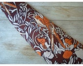 Vintage Tie - For Men - Brown Floral with Birds - by Wembley