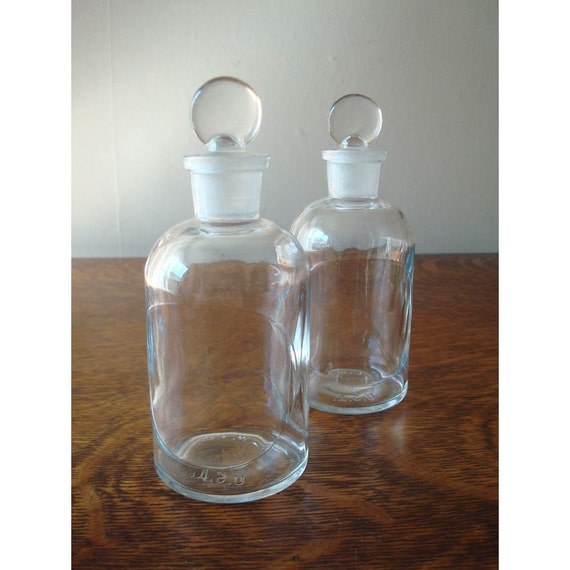 Antique Apothecary Bottle Collection - Set of 2 - Apothecary Jars