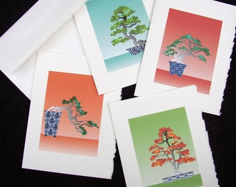 Set of 4 Bonsai Any Occasion Cards