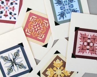 Hawaiian Quilt Cards- Blank Set of 6