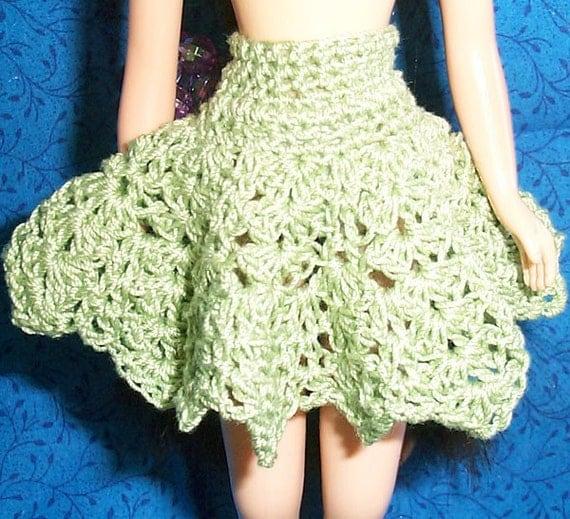 Blythe Green Crochet Petticoat OOAK