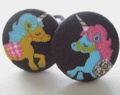 Once Upon a Dream- Adorable Glitter Unicorn Button Ponytail Holders
