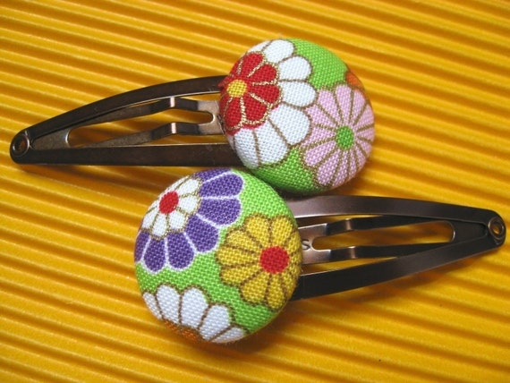 Bright Blossoms Snap Clips