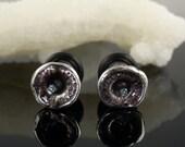 2 Gauge Sucker Plugs with Blue Diamonds
