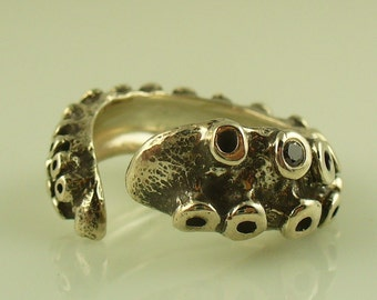 SALE - Black Diamond Tentacle Ring