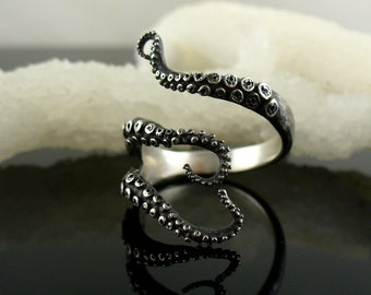 SALE - Ready to Ship! Handmade Jewelry, Tentacle Ring, Octopus Ring, OctopusME, Wicked tentacle ring