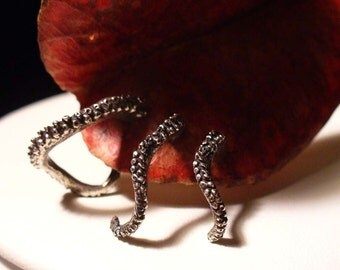 Trio - Octopus Earrings, Tentacle Earring, OctopusME, Earring, Octopus Ring, Spectre, James Bond, Cthulhu, Tentacle