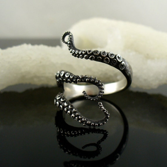 SALE - Handmade Jewelry, Tentacle Ring, Octopus Ring, OctopusME, Wicked tentacle ring