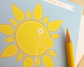 Thank You Cards - Thank You Sunshine Card Set of 4 - Baby Shower Thank You's