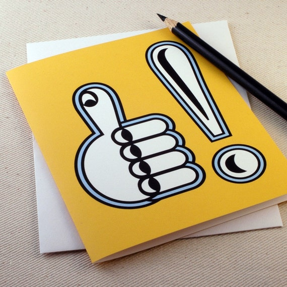 Congratulations Card -Graduation Card -Thumbs Up Sunny by Oh Geez Design
