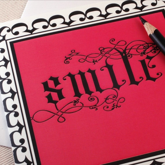 Smile Vine Greeting Card - Any Occasion - Thinking of You -by Oh Geez Design
