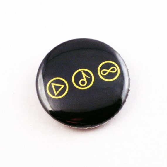 Pinback Button - Play Music Forever - One Inch Badge