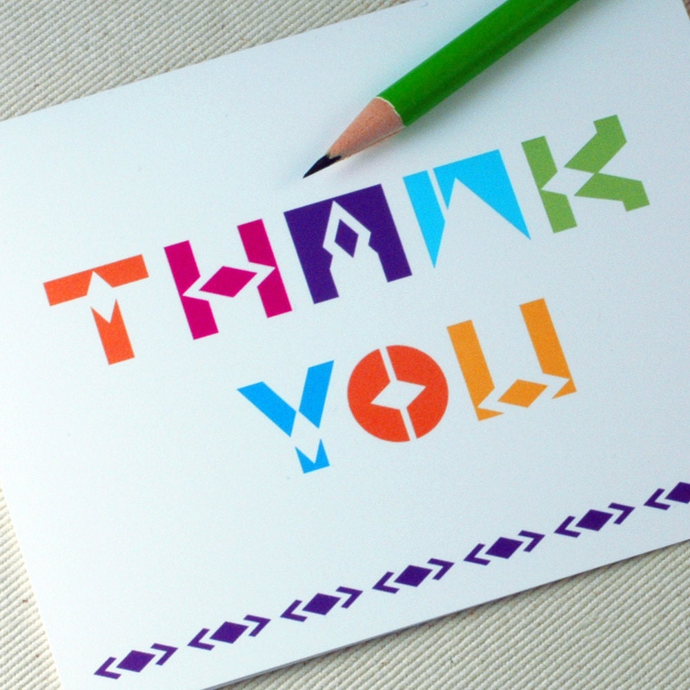 thank you card neon thank you note card oh geez design