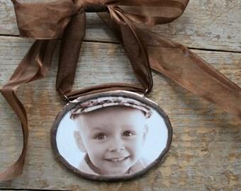 Custom Oval Photo Ornament