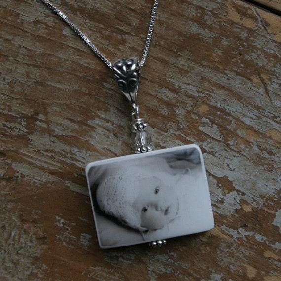 Custom Clay Photo Tile Pendant