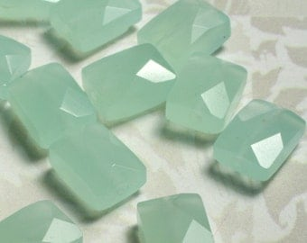 Sea blue quartz faceted rectangle 10x8mm, 4 pcs (item ID L05SQFRe10x8)
