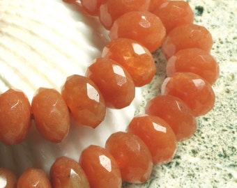 Red aventurine faceted rondelle 8mm, 16 pcs (item ID L0910RAFRN8)