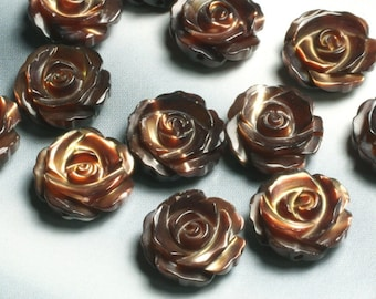MOP carved rose (both side) 12mm, 2 pcs (item ID L05MOPCR12B)