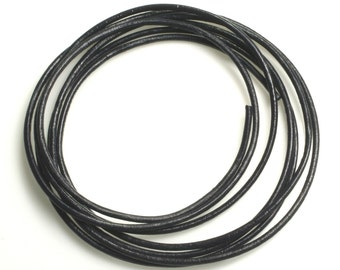 SALE 20 FT leather cord black 2mm (item ID YWLCB2m)