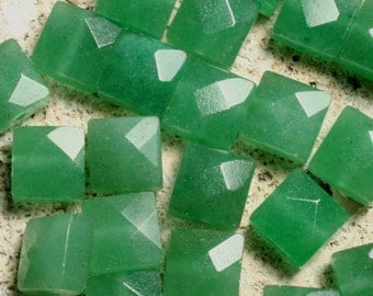 Green aventurine faceted square 8x8mm (L0206GAFS)