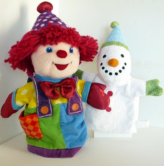 Clown And Snowman Hand Puppet Gymboree Pottery Barn
