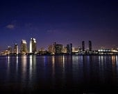 San Diego Skyline at Night - 8x12 Fine Art Photographic Print - Signed by Artist