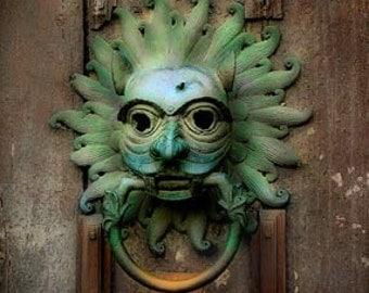 Sanctuary Knocker - 11x14 Medieval Photograph - Durham Cathedral, England - Door Knocker