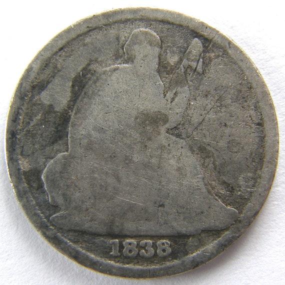 RARE 1838-O US Seated Liberty Dime No Stars