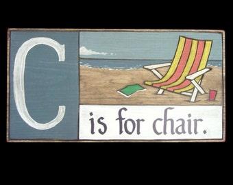 Beach, Alphabet Primer - C is for Chair