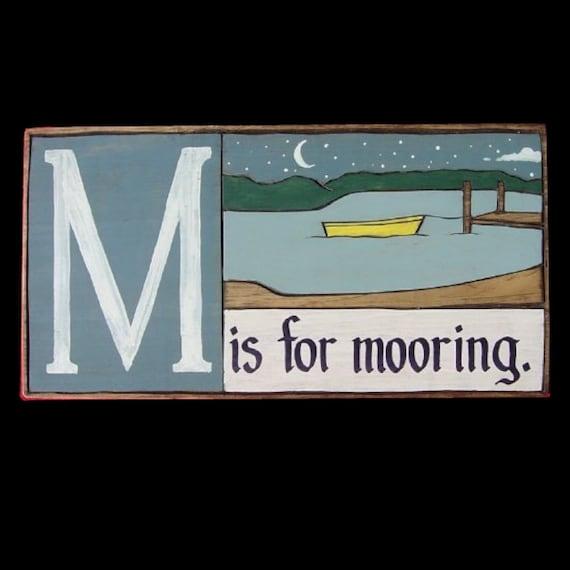Boat, Alphabet Primer - M is for Mooring