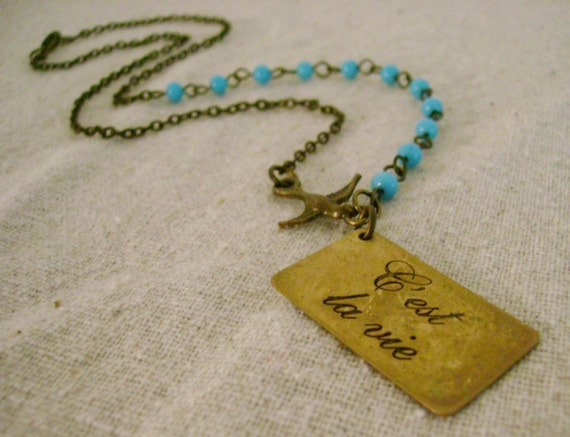 that's life necklace