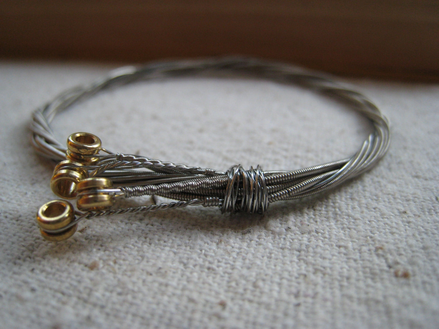 repurposed guitar string bracelet x small by offbeet on etsy. Black Bedroom Furniture Sets. Home Design Ideas