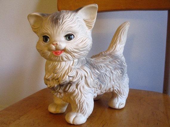 Vintage Edward Mobley Cat Squeak Toy 1960