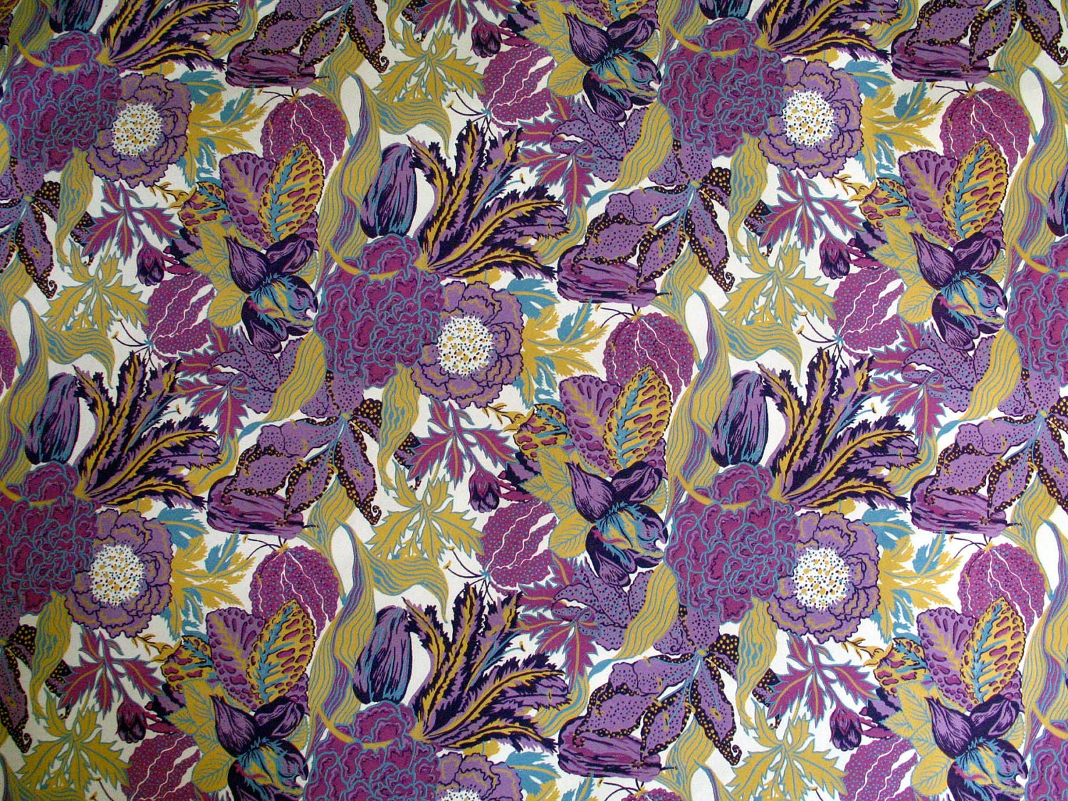 Purple vintage floral pattern - photo#11