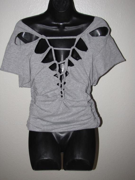 Custom Backless Shredded T Shirt Deconstructed Diy