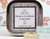 Scrabble and Glass Pendant and Magnet Collection Kit. Create 6 Gorgeous Pieces Using Premium Chiyogami Papers.
