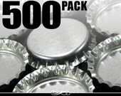 500 Chrome Bottle Caps WITHOUT LINERS. New.