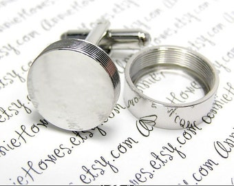 CUFF LINKS. What to Give your Guy...Create Your Own Photo Cufflinks. Easy to Make. Add Your Own Image. Great for Men.