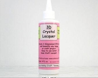 3D Crystal Lacquer. CRAFT GLAZE for Pendants, Magnets, and Craft Projects. Non Toxic. Compare to Diamond Glaze.