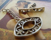 Sterling Filigree Toggle Clasp