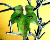 nature spirit pendant accented w sapphires n sterling silver