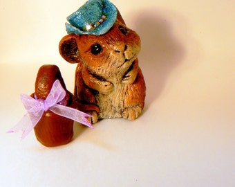 one of a kind sculpted miniature mouse