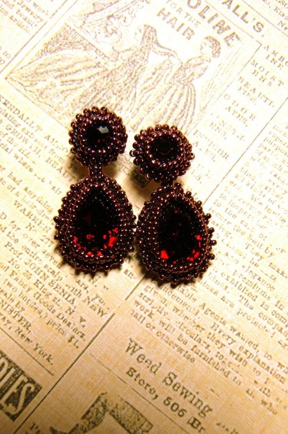 beaded baroque earrings