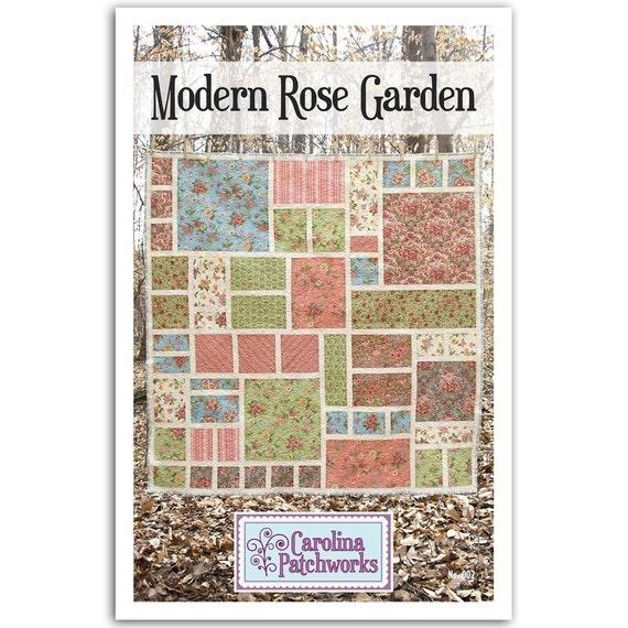 No. 002 -- Modern Rose Garden Quilt Pattern