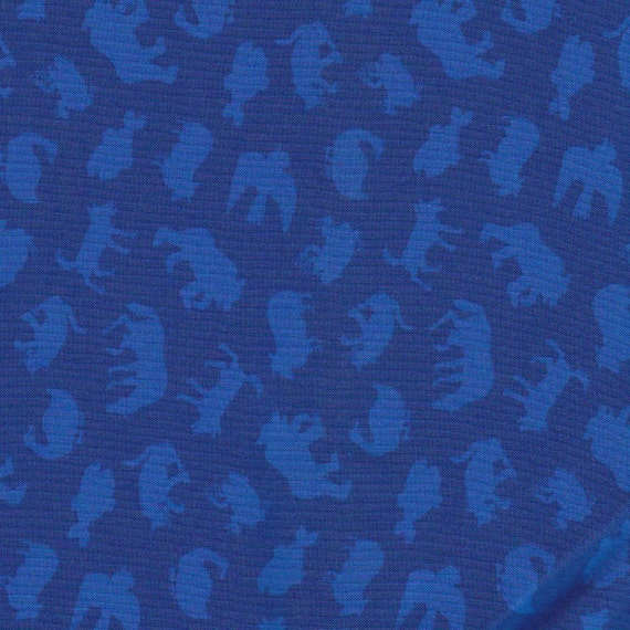 Fabric -- Brown Bear by Eric Carle -- Blue Tonal Animals (fd006) -- 1.5 yards