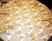 60 inch Round Tablecloth and 6 napkins in Amy Butler