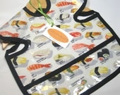 Wipeable Sushi Shirt Bib - Specify Size