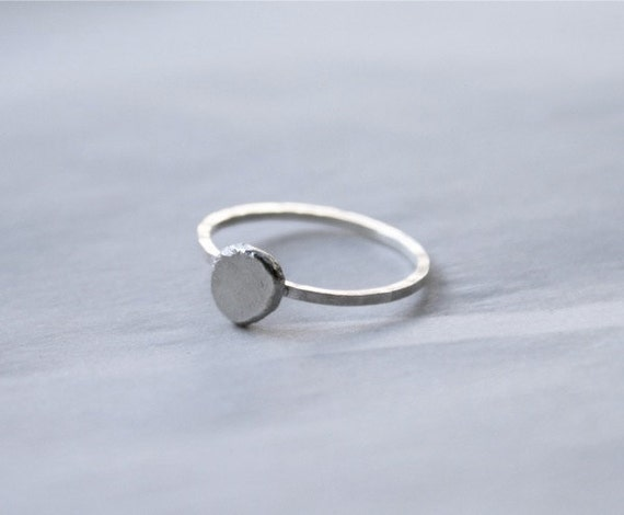 Sterling Silver Pebble Ring, silver stackable ring, silver stacking ring, silver bead ring, sterling silver nugget ring, sterling stack ring